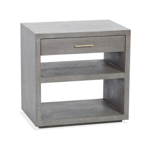 Livia Bedside Chest in Gray