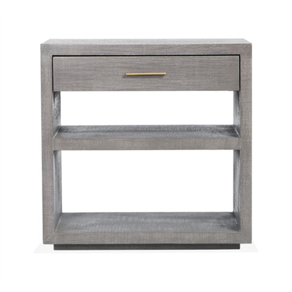 Livia Bedside Chest in Gray | Interlude Home