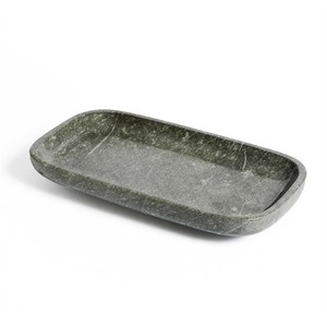 Harlow Rectangular Tray in Gray | Interlude Home