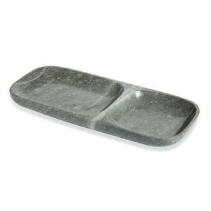 Harlow Dual Section Tray in Gray | Interlude Home