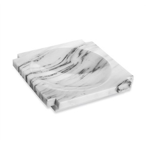Haven Marble Candy Dish in Arabescato | Interlude Home