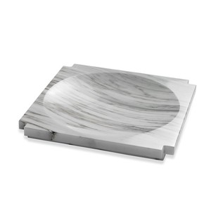 Haven Large Marble Candy Dish in Arabescato   Interlude Home