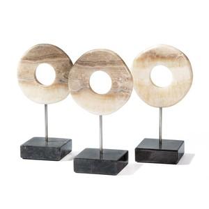 Set of Three Arta Onyx Ring Trio   Interlude Home