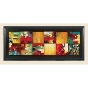 Red Abstract Canvas Frame | Bassett Mirror