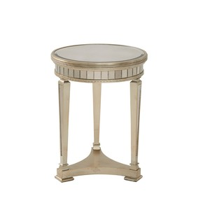 Borghese Round Mirrored End Table | Bassett Mirror