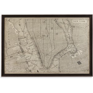 Vintage Map of New York | Bassett Mirror