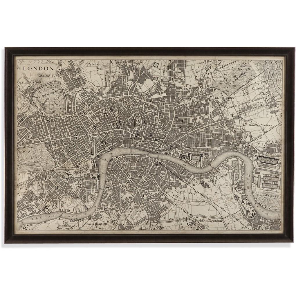Vintage Map of London | Bassett Mirror