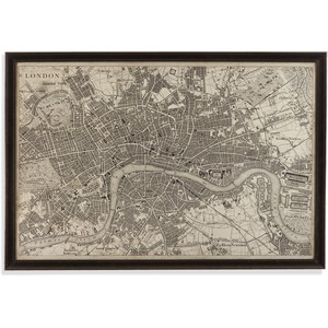 Vintage Map of London | Bassett Mirror