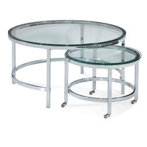 Patinoire Round Cocktail Table | Bassett Mirror