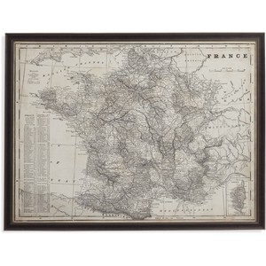 Antique Map of France | Bassett Mirror