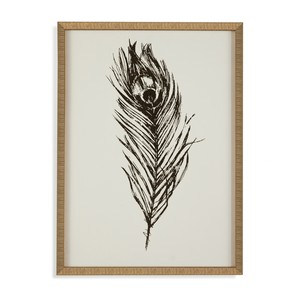 Gold Foil Feather I | Bassett Mirror