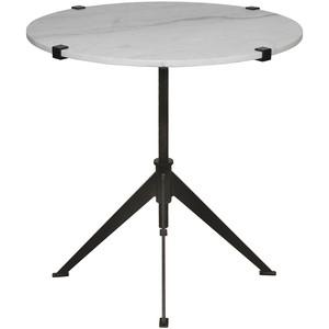 Edith Adjustable Side Table   Noir