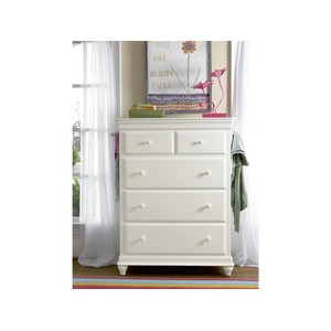 Summer White Five Drawer Chest | Universal Smart Stuff