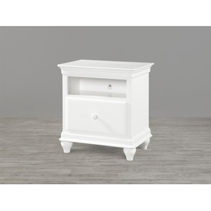 Summer White One Drawer Nightstand