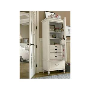 Gabriella Mirror Front Storage Armoire   Universal Smart Stuff