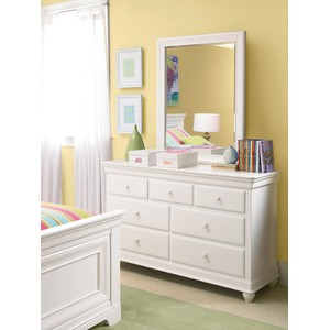 Classics 4.0 White Drawer Dresser with Mirror | Universal Smart Stuff