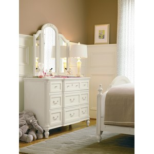 Gabriella Drawer Dresser with Dressing Mirror