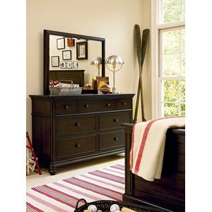 Paula Deen Guys Drawer Dresser with Mirror