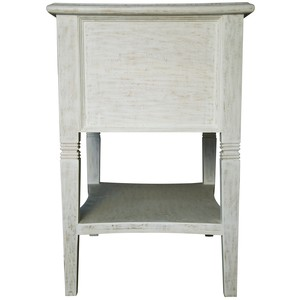 Oxford Two Drawer Side Table | Noir