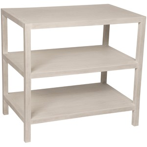 Two Shelf Nightstand in White Wash