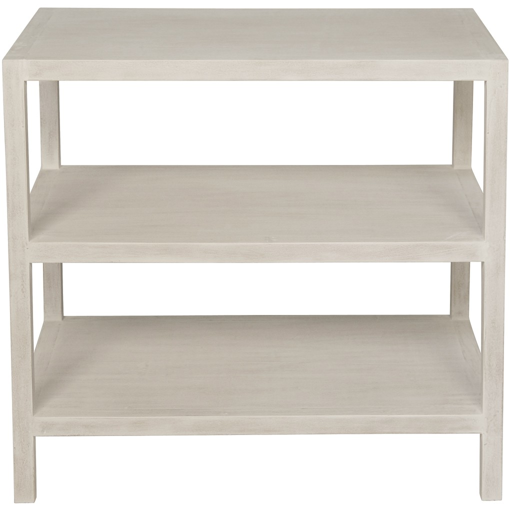 Two Shelf Nightstand in White Wash | Noir
