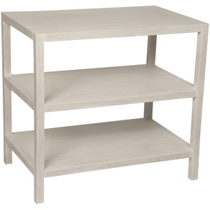 Two Shelf Nightstand in White Wash | Noir