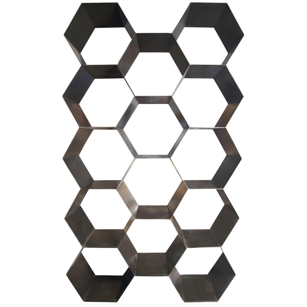 Beehive Metal Bookcase | Noir