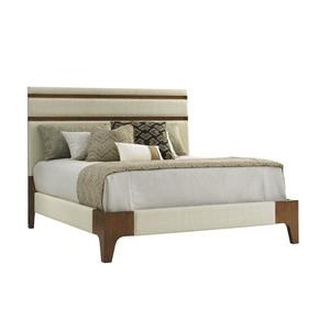 Mandarin Upholstered King Panel Bed