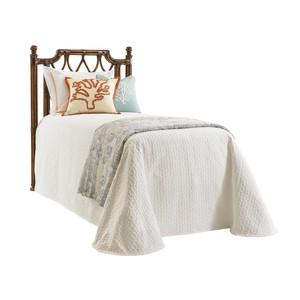 Island Breeze Twin Rattan Headboard
