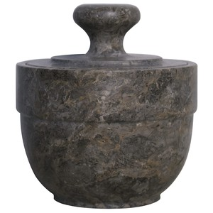 Black Marble Sugar Urn   Noir