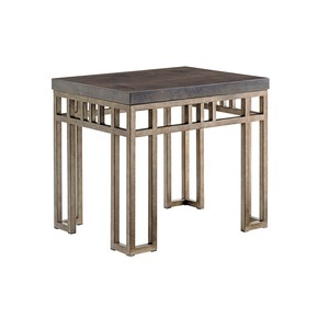 Montera Travertine End Table | Tommy Bahama Home