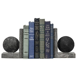 Black Marble Bookends | Noir
