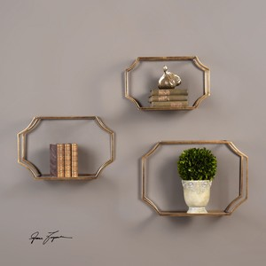 Set of Three Lindee Wall Shelves | The Uttermost Company