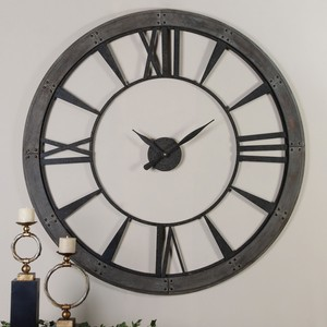 Ronan Large Wall Clock   The Uttermost Company