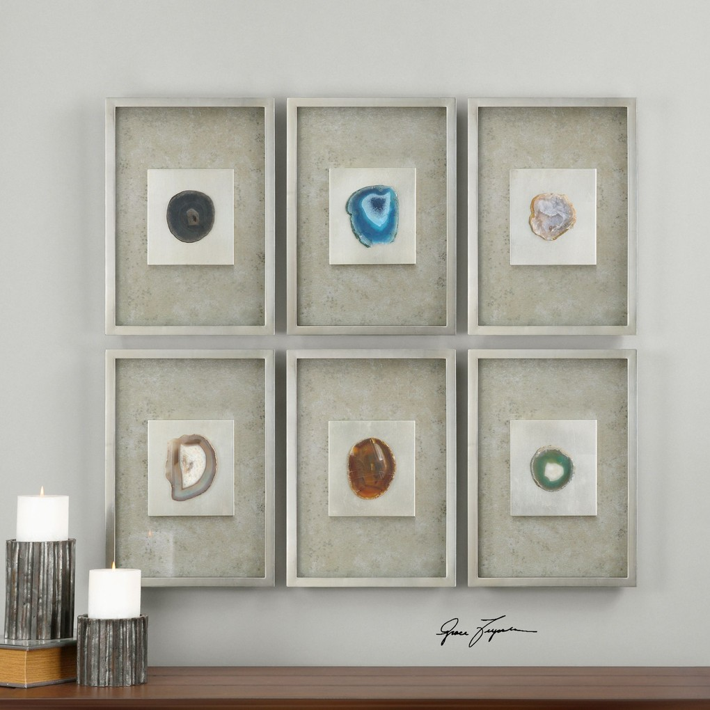 Agate Stone Silver Wall Décor | The Uttermost Company