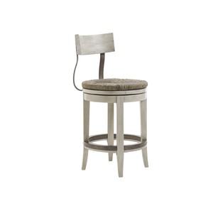 Merrick Swivel Counter Stool with Hand Woven Seat
