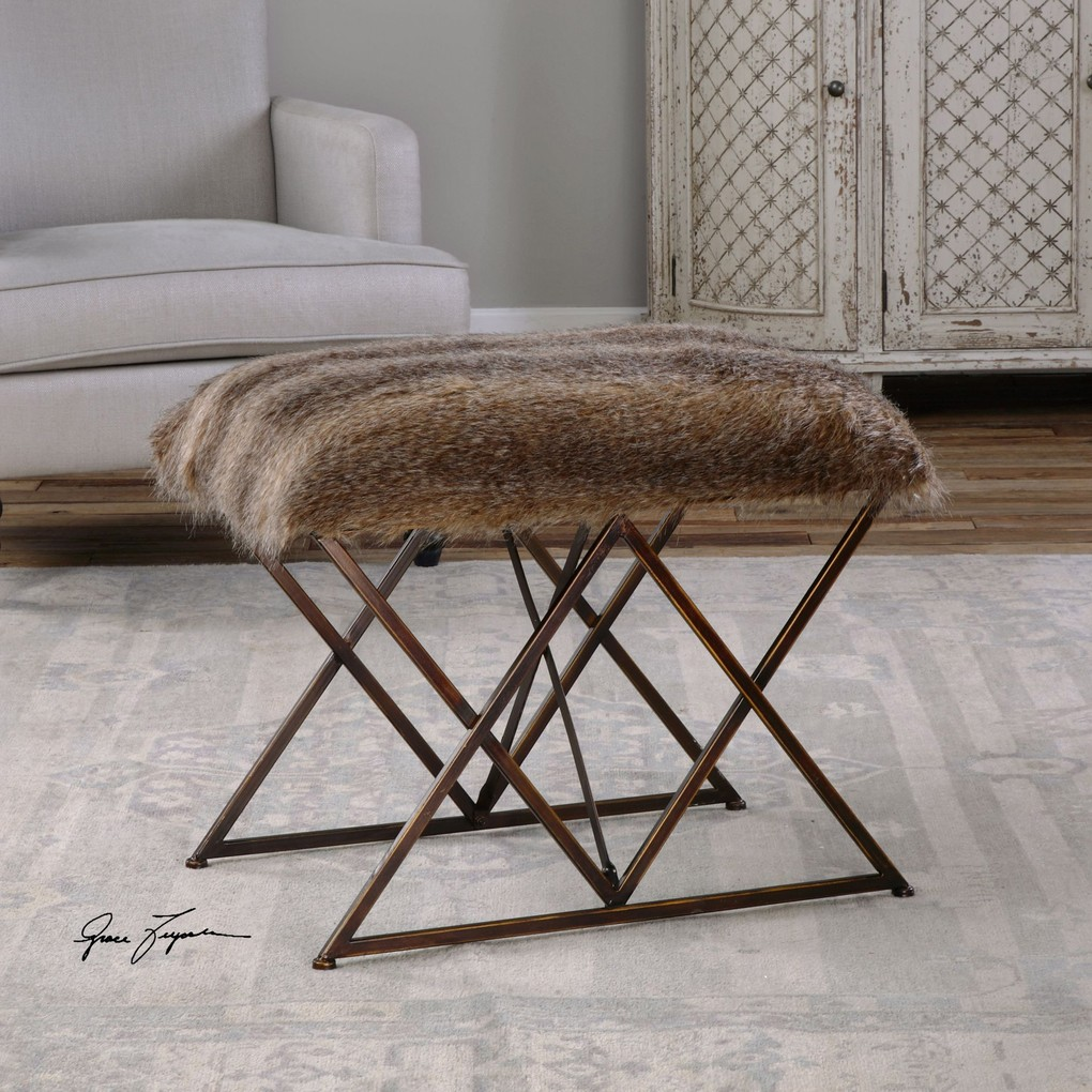 Brannen Small Bench | The Uttermost Company