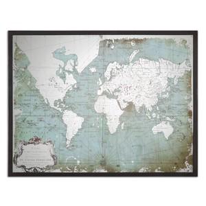 Mirrored World Map Art