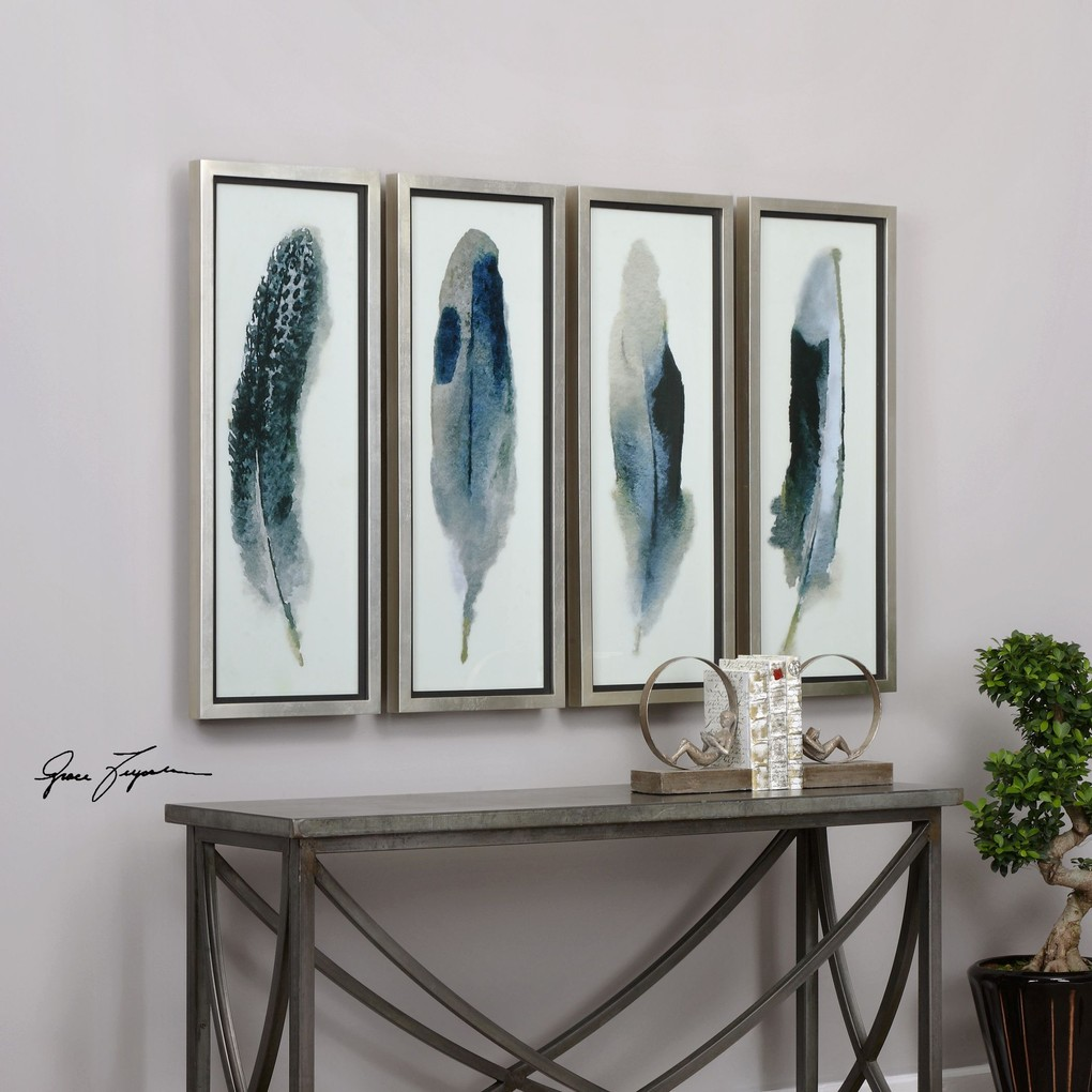 Feathered Beauty Art - Set of Four   The Uttermost Company