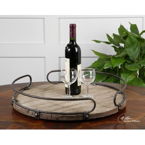 Acela Round Wine Tray | The Uttermost Company