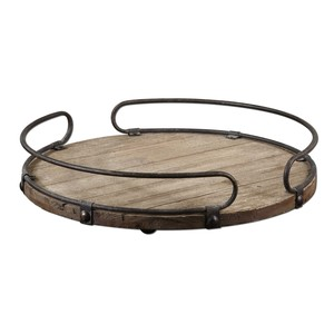 Acela Round Wine Tray | The Uttermost Company