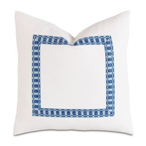 Baldwin White with Border Pillow