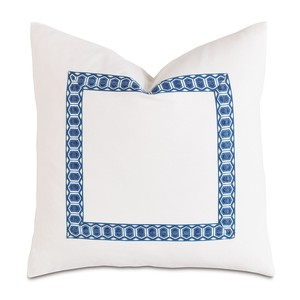 Baldwin White with Border Pillow | Eastern Accents