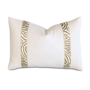 Filly White Pillow w/ Citron Border | Eastern Accents