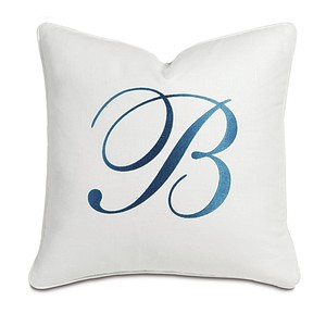Breeze White with Monogram Pillow
