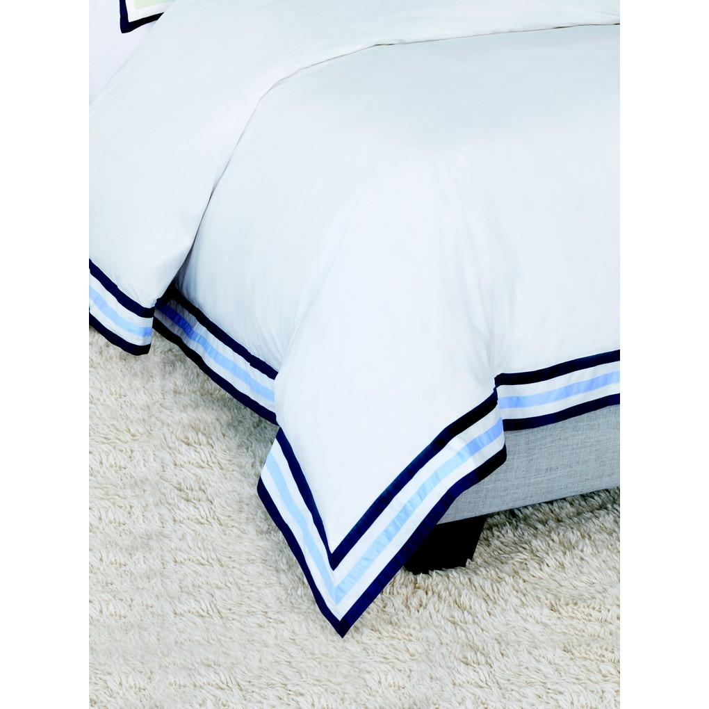 Watermill Indigo Super Queen Duvet Cover | Eastern Accents