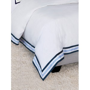 Watermill Indigo Super Queen Duvet Cover