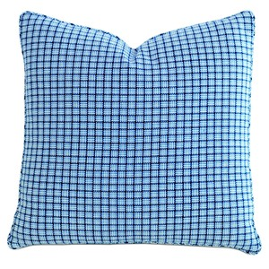 Checkmate Sky Throw Pillow with Mini Welt   Eastern Accents