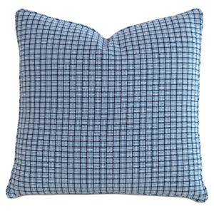 Checkmate Sky Throw Pillow with Mini Welt