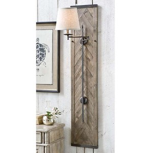 Herringbone Swing-Arm Sconce